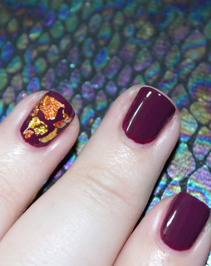 Simply Gorgeous Autumn Metallic Flake Nail Art including some tips & tricks on All Things Beautiful XO
