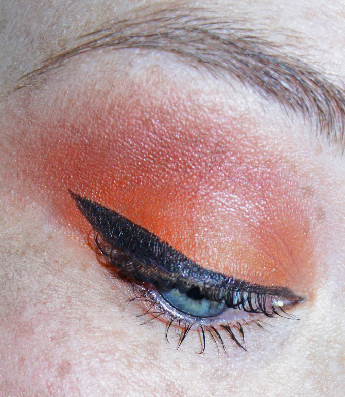 Matte Autumn Orange Eyeshadow Look With The Viseart Dark Mattes