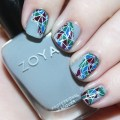 Zoya Urban Grunge Geo Nail Art + Reverse Stamping with the Bundle Monster Festival Collection Plate #BM-S303 See more nail art, makeup, & beauty tutorials on All Things Beautiful XO