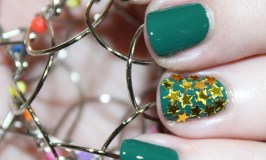 Zoya Wyatt from the Urban Grunge Collection with a gold star accent nail. See more beauty, nail art, & makeup tutorials on All Things Beautiful XO