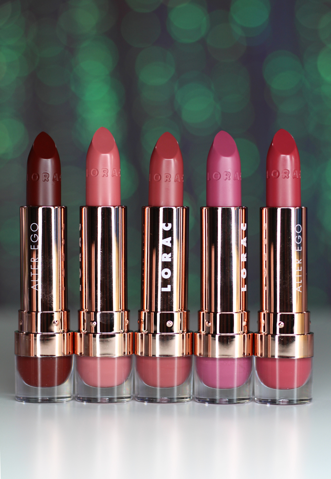 Swatches & Review LORAC Social Affair Alter Ego Lipstick Gift Set including the shades Trendsetter, Fashionista, Stylist, Bon Vivant, & Provocateur on All Things Beautiful XO
