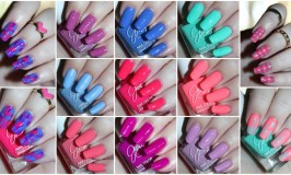 Fun nail art using the Jesse's Girl Julie G Nail Polish Trios along with full swatches & review! Trio #1 Bikini, Tropical, & Dream in Pretty. Trio #2 is Cabana Boy, Fierce & Fab, & Oh Em Gee. & Trio #3 is Santorini, Rio de Janeiro, & Julie's Fave. Check out more nails, makeup, & beauty posts on All Things Beautiful XO