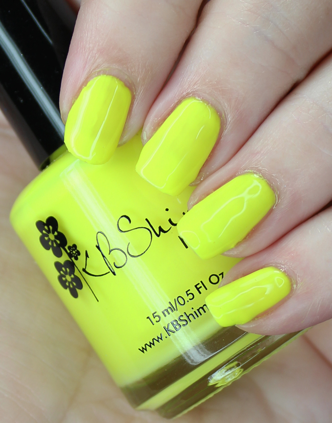 KBShimmer Nail Polish in the shade All the Bright Moves Swatches & review of the KBShimmer All the Bright Moves 90's Neon Collection on All Things Beautiful XO