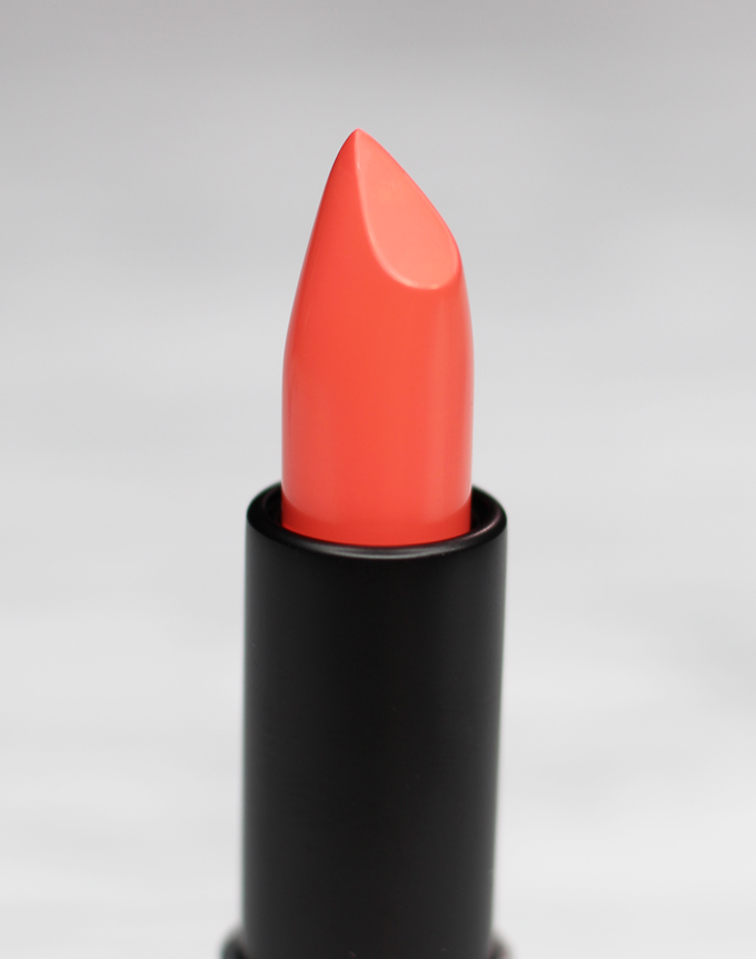 MUFE Artist Rouge Lipstick Satin Creme in C303 Orange Coral   I Bought a Bunch of MUFE Artist Rouge Lipsticks & Here's What I Think! (Make Up For Ever swatches, full face, & sass) on All Things Beautiful XO