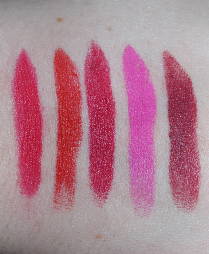 MUFE Matte Swatches | I Bought a Bunch of MUFE Artist Rouge Lipsticks & Here's What I Think! (Make Up For Ever swatches, full face, & sass) on All Things Beautiful XO