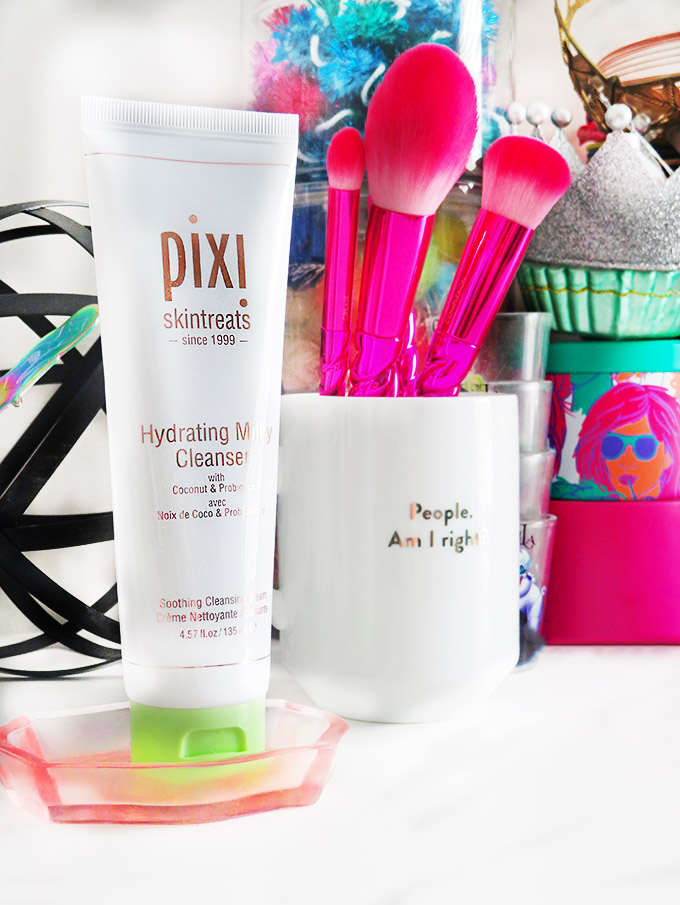 Pixi Beauty Hydrating Milky Cleanser Review if the Pixi Hydrating Milky Skincare Line including cleanser, peel, & tonic on All Things Beautiful XO
