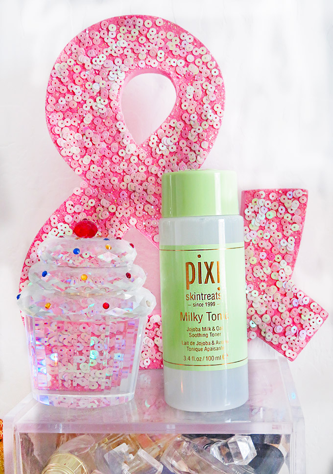 Pixi Beauty Hydrating Milky Tonic Review if the Pixi Hydrating Milky Skincare Line including cleanser, peel, & tonic on All Things Beautiful XO