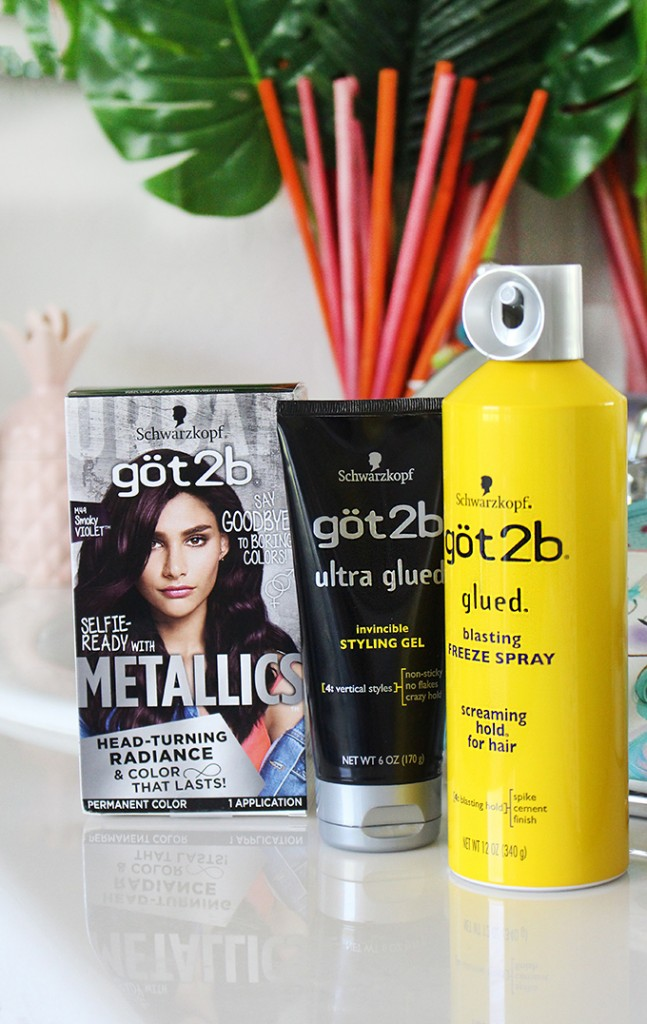 DIY at Home Hair Dye Tips & Tricks + Twisted Headband Styling Tutorial with Schwarzkopf got2b® Metallics Smoky Violet & got2be® hair products on All Things Beautiful XO