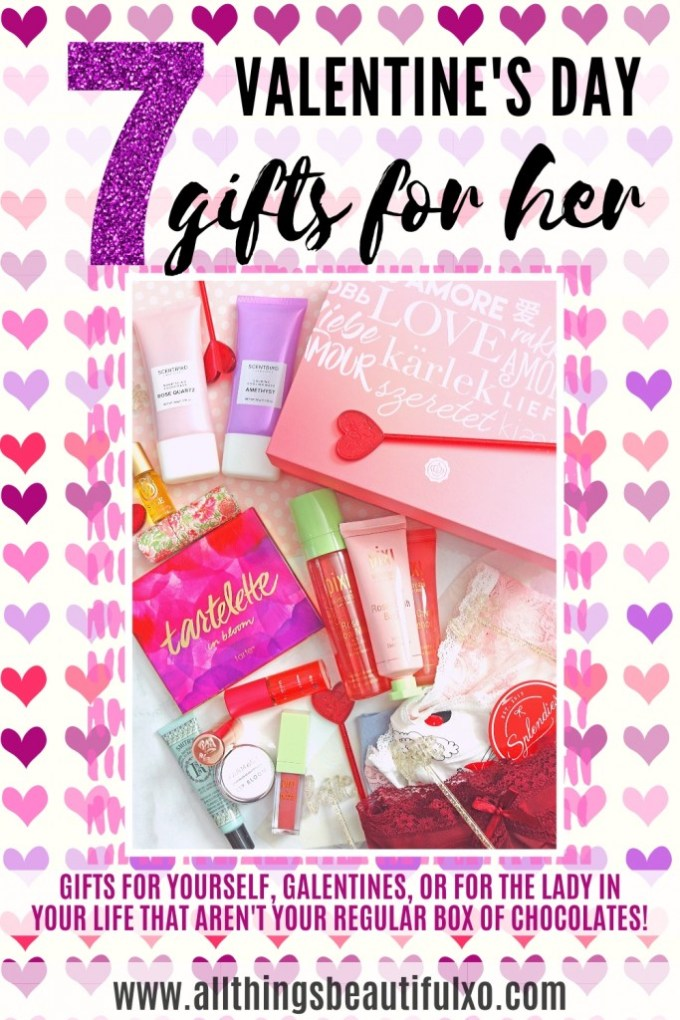 Gifts for yourself, galentines, mom, or women in your life that AREN'T your regular box of chocolates or bouquet of flowers on All Things Beautiful XO