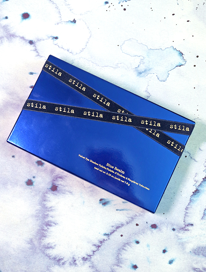 A GORGEOUS overlooked eyeshadow palette with buttery matte & shocking sparkle- Swatches & Review of the Stila Blue Realm Velvet Eye Shadow Palette on All Things Beautiful XO