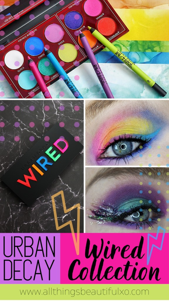 Eye Looks & tutorials using the Urban Decay Wired Pressed Pigment Palette & 24/7 Eyeliners - Two Options! on All Things Beautiful XO