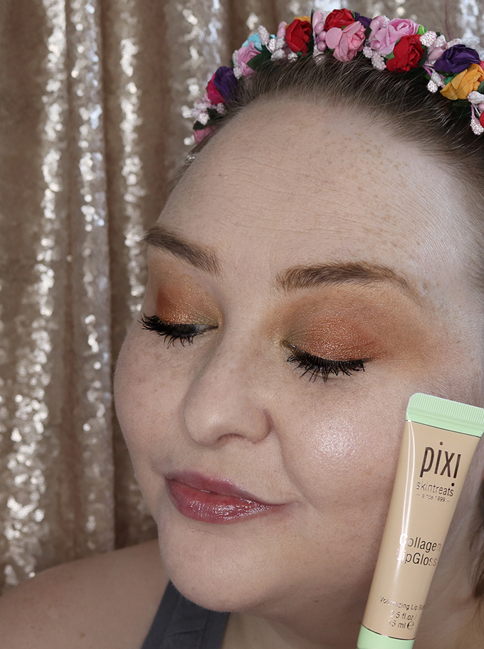 Review & Lip Swatch Pixi by Petra Collagen Lip Gloss & comparing to other clear lipgloss options on All things Beautiful XO
