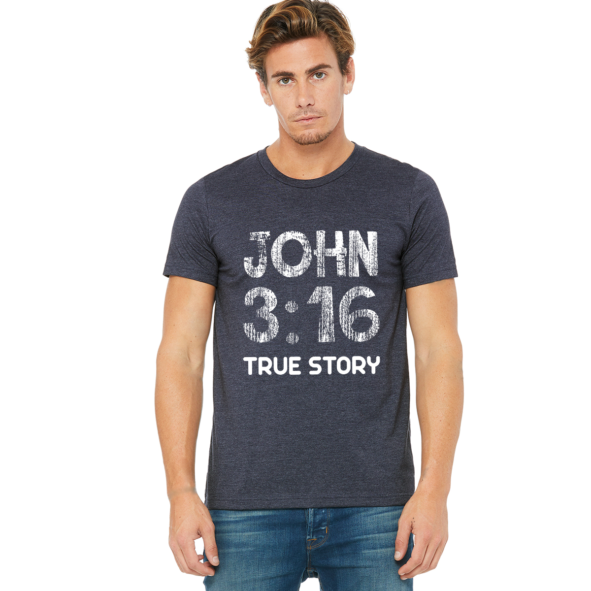 John 3 16 True Story Christian Jersey T Shirt