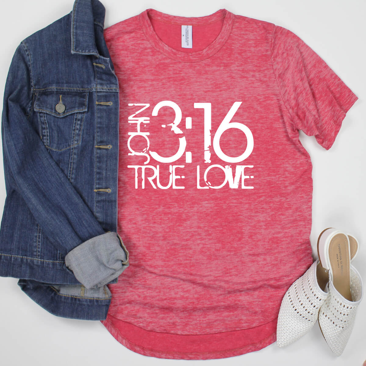 John 3 16 True Love Acid Wash Unit Shirt