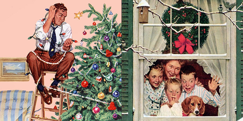 Best Of Norman Rockwell Christmas Vintage Art All Things