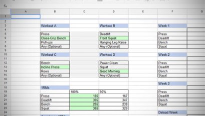 531 Routine Calculator Excel Spreadsheet - All Things Gym