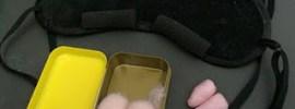 sleep mask wax ear plugs nap