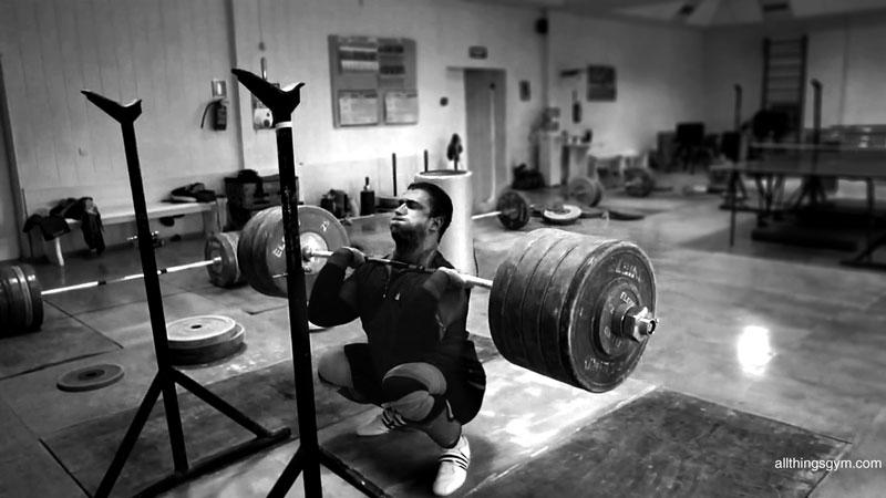 Dmitry Klokov 250kg Front Squat Wallpaper