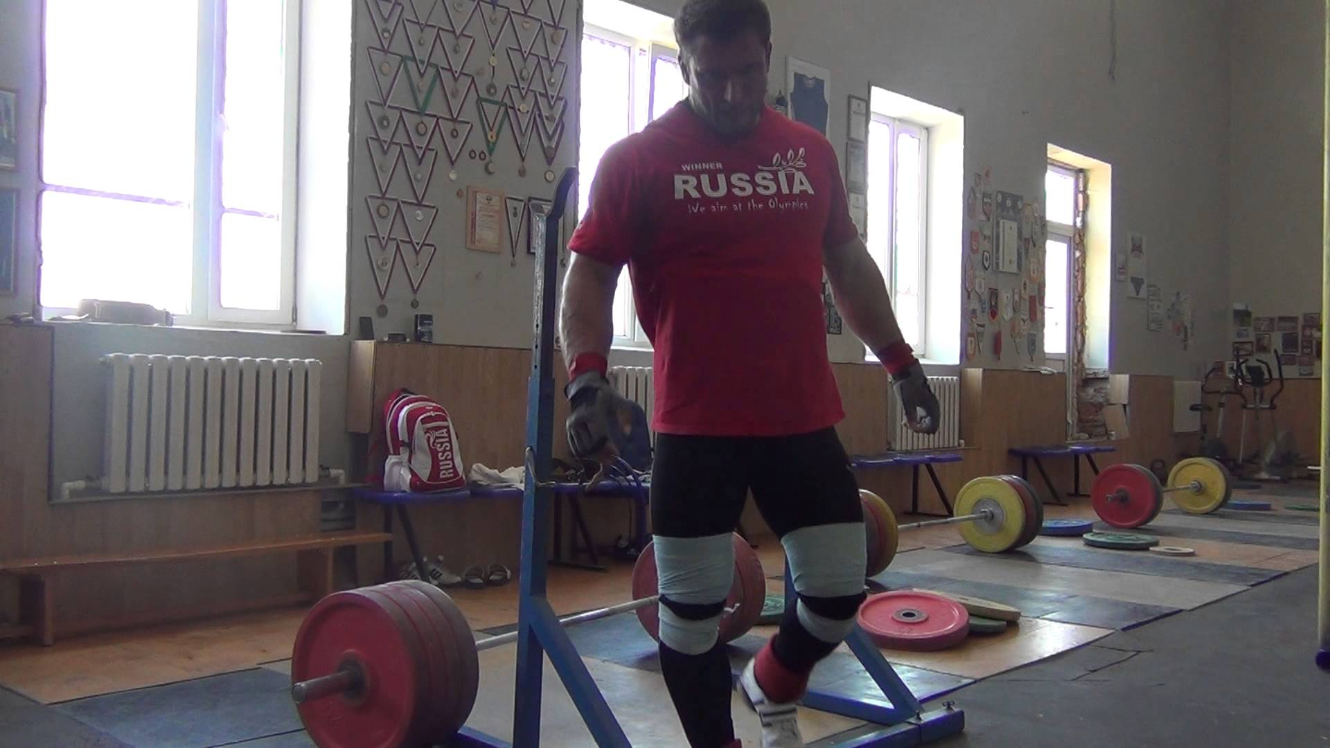 Dmitry Klokov Paused Back Squats - All Things Gym