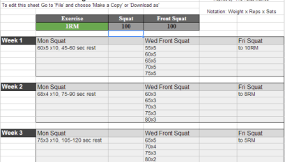 Texas Method Excel Spreadsheet Download - All Things Gym