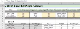 Catalyst 7 Week Squat Emphasis Cycle Progam