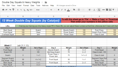 531 Spreadsheet Download - All Things Gym