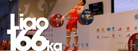 Liao Hui 166kg Snatch and 359kg Total World Record