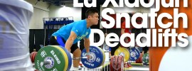 Lu Xiaojun Deficit Snatch Grip Deadlifts 2015 Worlds Training Hall