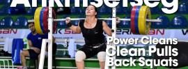 Ankhtsetseg Munkhjantsan Power Clean, Clean Pull, Back Squat Session 2016 Junior Worlds