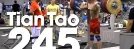 Tian Tao 245kg x2 Front Squat