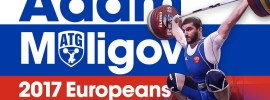 Adam Maligov All Warm Up + Competition Lifts 2017 European Championships