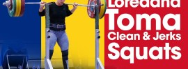 Loredana Toma Europeans Training Hall 155kg Squat Double