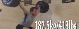 Clarence Kennedy 187.5kg Snatch