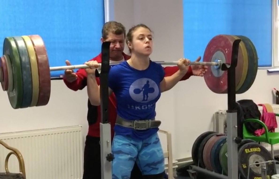 Loredana Toma 175kg Squat All Things Gym
