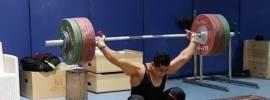 mohamed ehab 169kg hang snatch pr