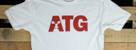 New ATG Shirt: White / Cardinal