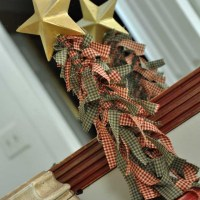 Cute Christmas Trees from Fabric Scraps!