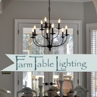 Lighting over the Farmhouse Table-The Winner!