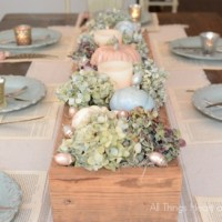 Shabby Chic Fall Table
