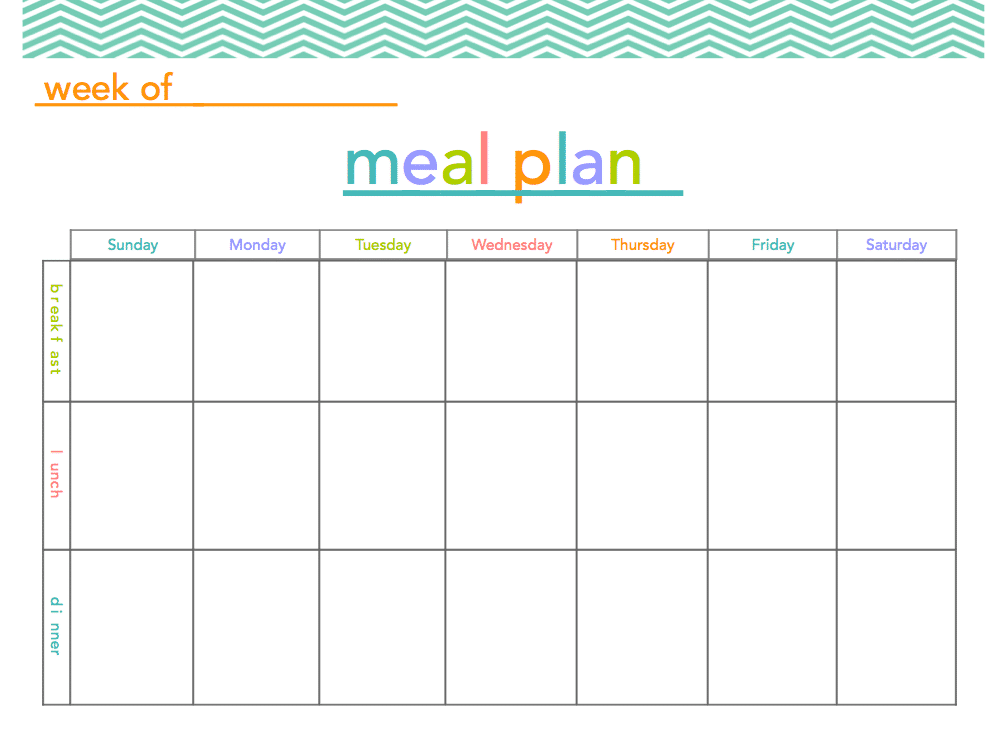 FREE Meal Plan Printable All Things Mamma