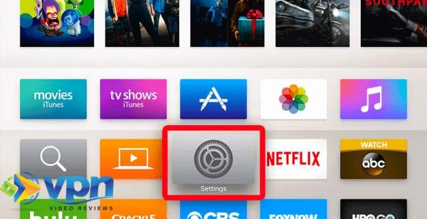 Open the Settings app on your Apple TV