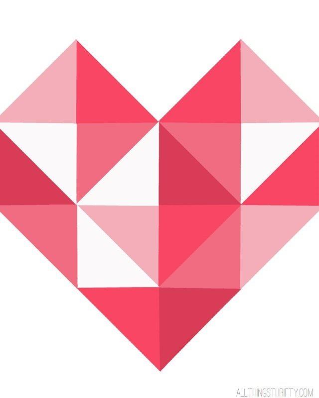 Abstract Heart Free Printable