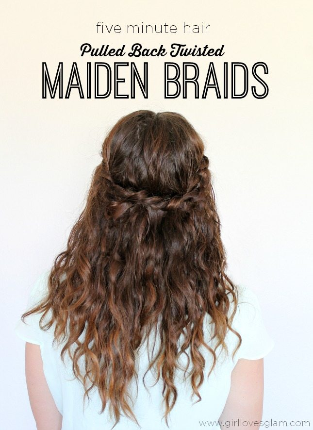 Five Minute Hair Twisted Maiden Braids All Things Thrifty