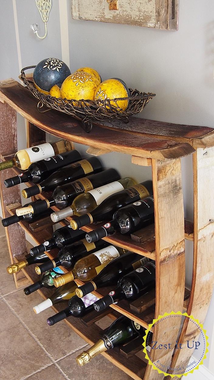 wine barrel stave wine rack all