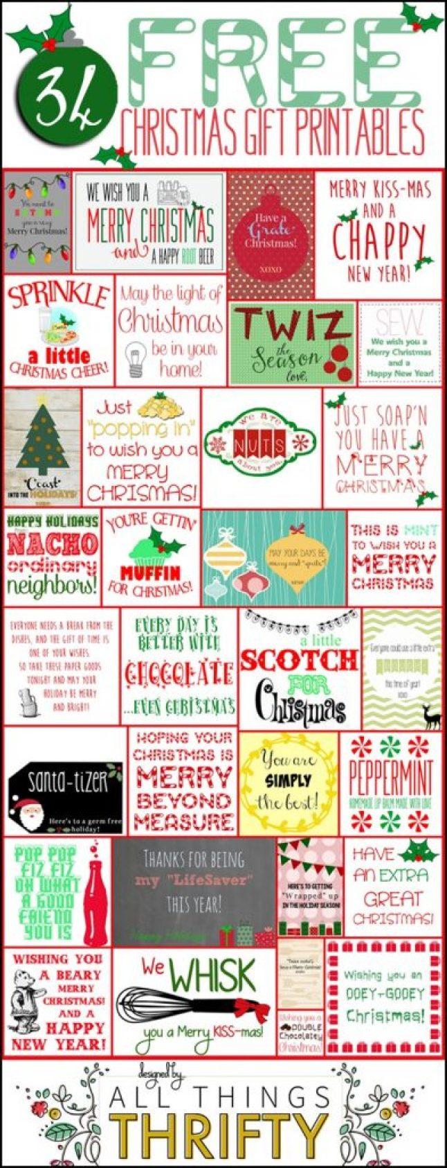 HAPPY Holidays: 34 Free Christmas Gift Tag Printables - Tatertots ...