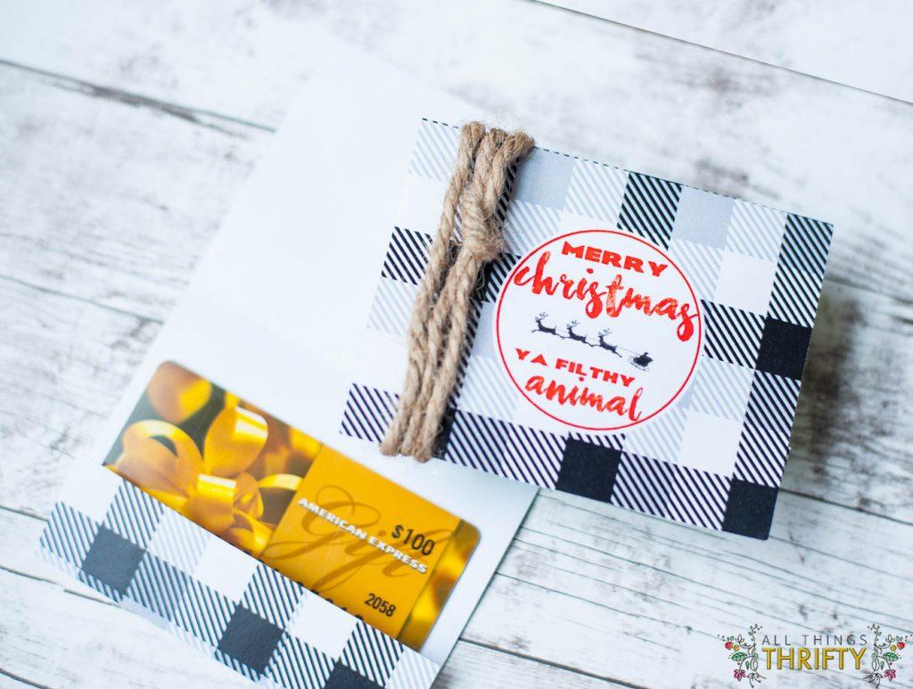 Free Printable Christmas Gift Card Holders All Things