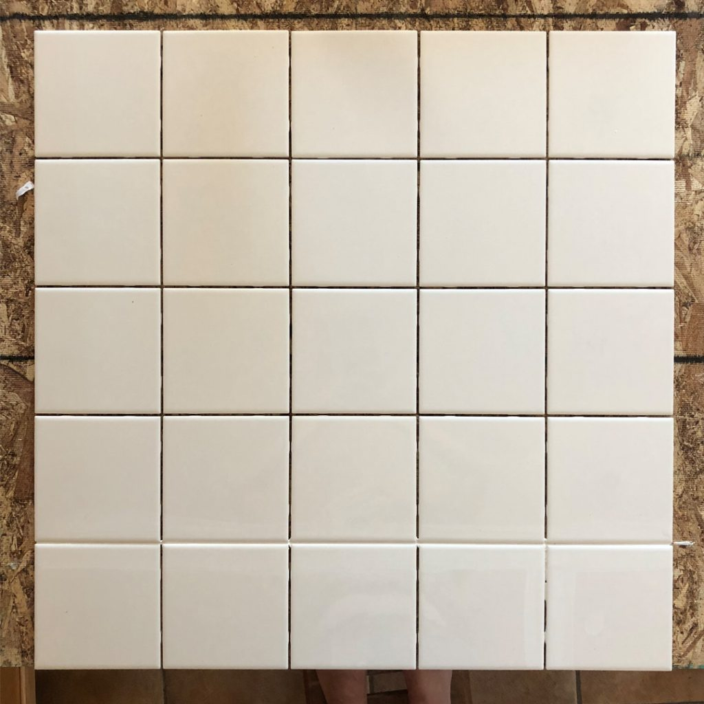 chalk painted tile tutorial all