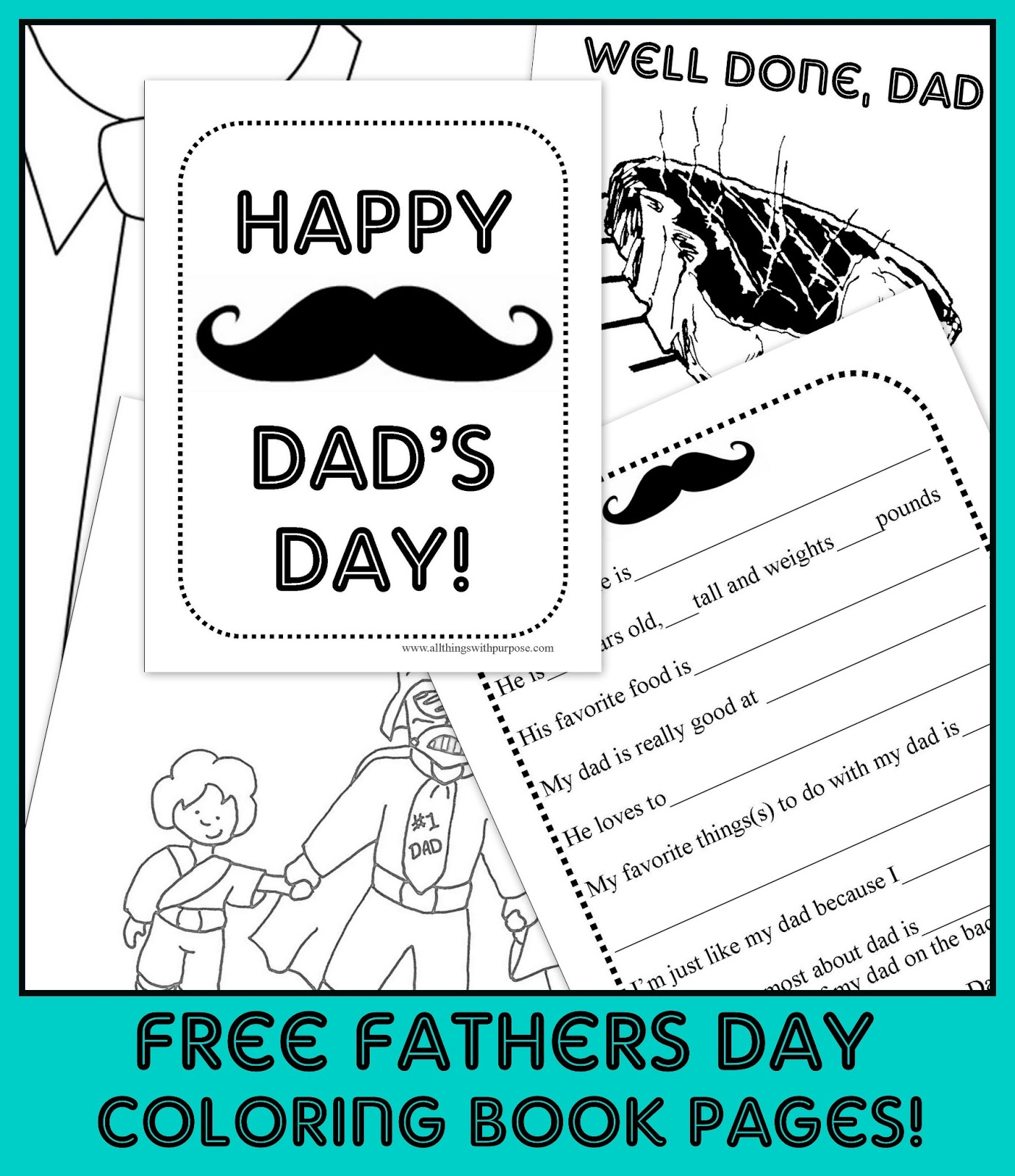 Fun Father S Day Coloring Pages