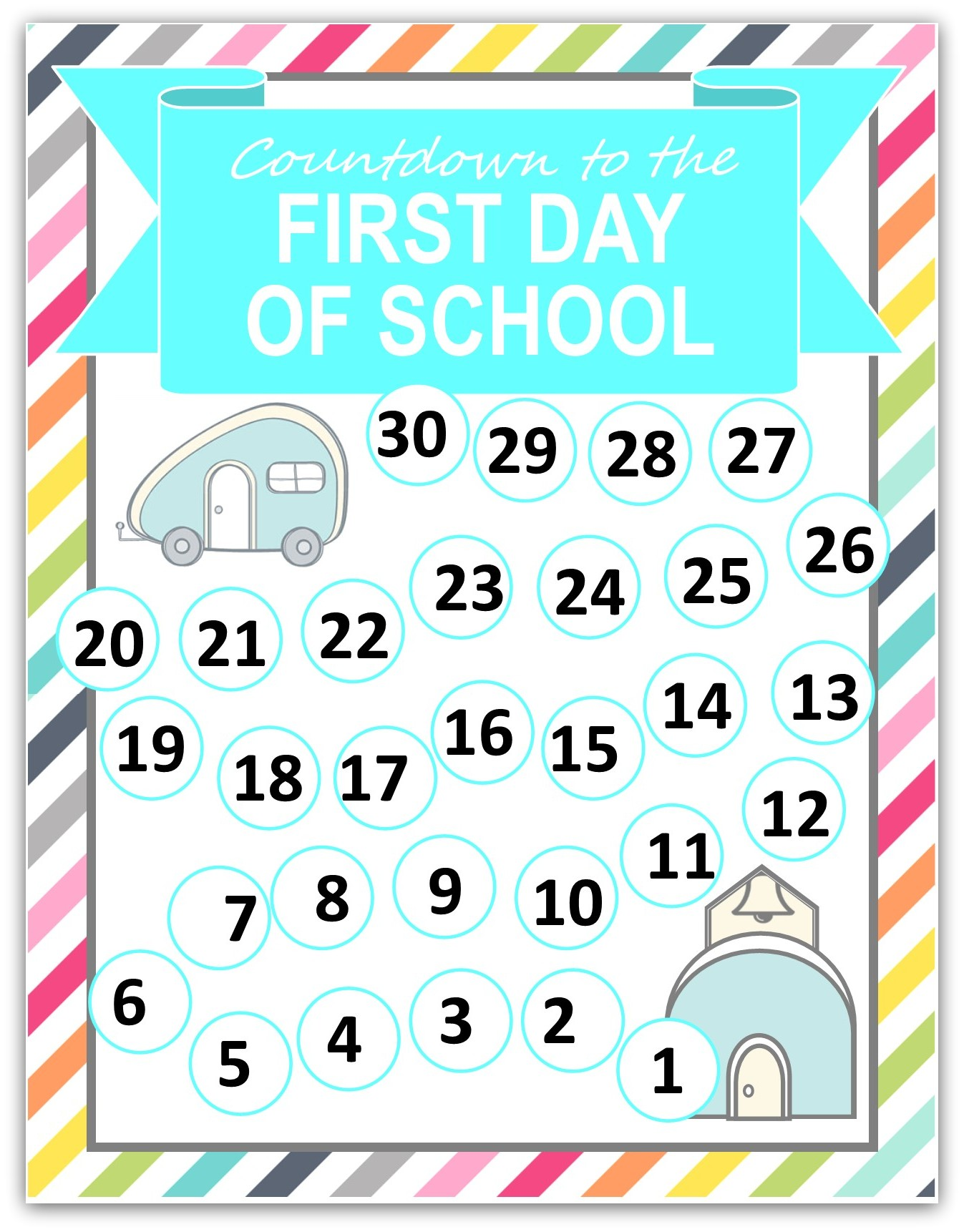 Back To School Countdown Printable