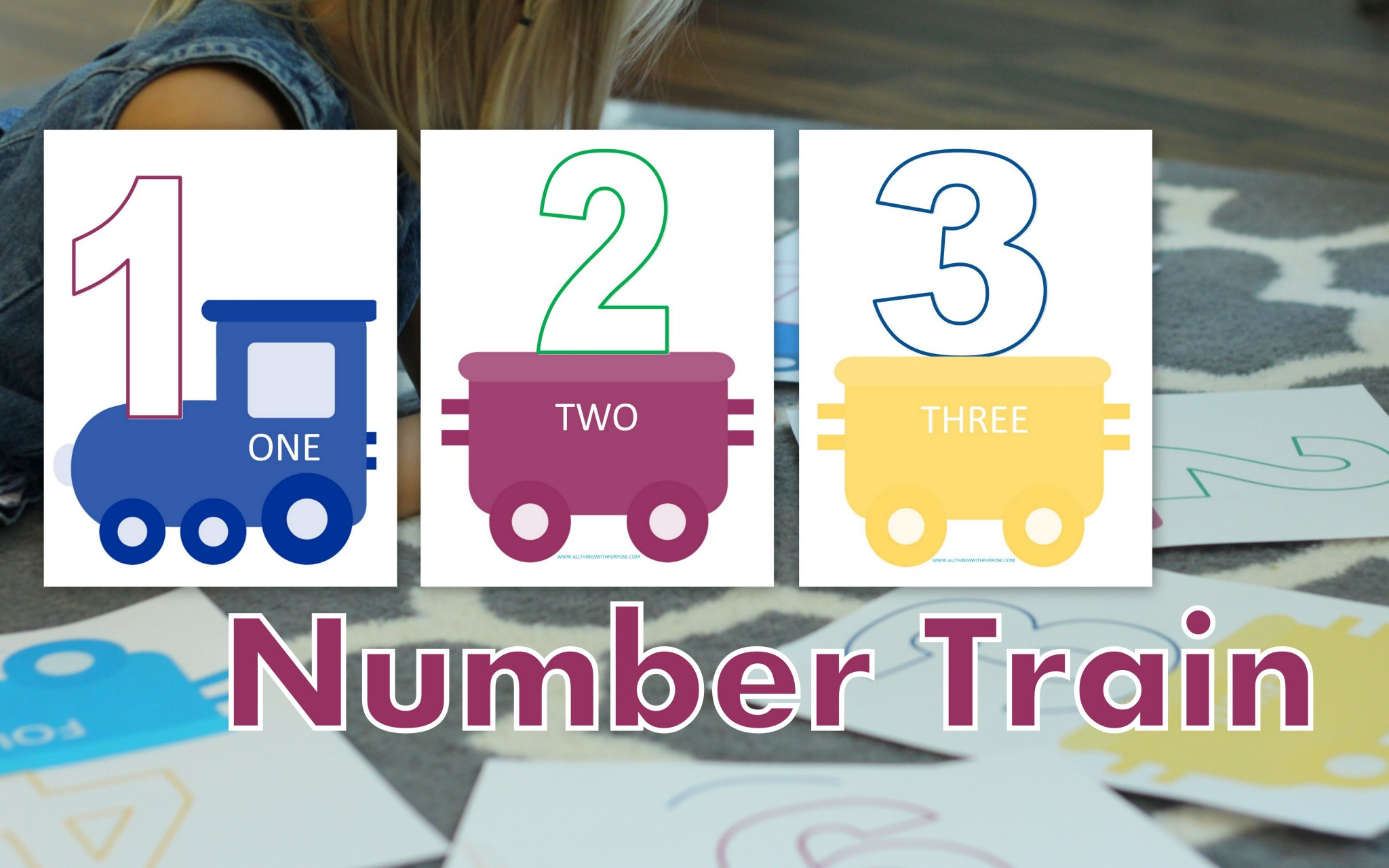 Preschool Number Recognition Train Printable
